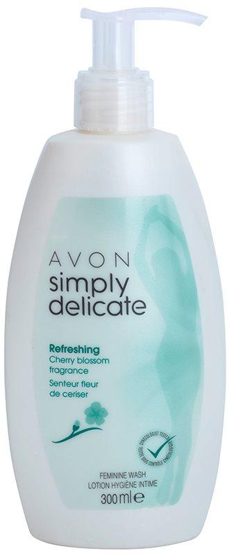 Avon Simply Delicate gel pro intimní hygienu s vůní třešňového květu