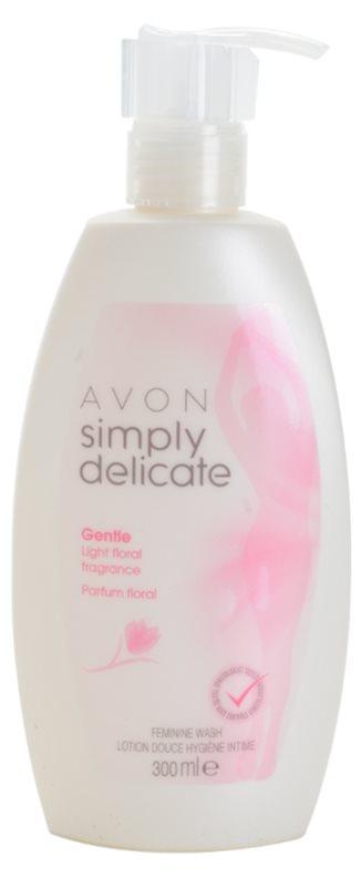 Avon Simply Delicate dámský sprchový gel pro intimní hygienu s vůní květin