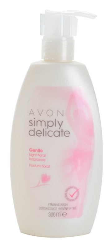 Avon Simply Delicate doccia gel per l'igiene intima femminile con aroma di fiori