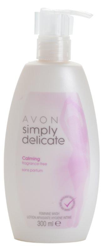 Avon Simply Delicate beruhigendes parfümfreies Creme-Gel für die intime Hygiene