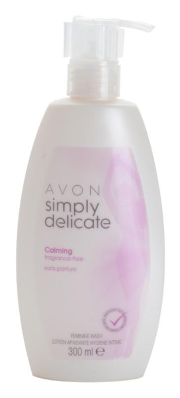 Avon Simply Delicate upokojujúci krémový neparfémovaný gél na intímnu hygienu
