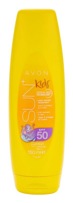 Avon Sun Kids vysoko vodeodolné oranžové mlieko na opaľovanie SPF 50