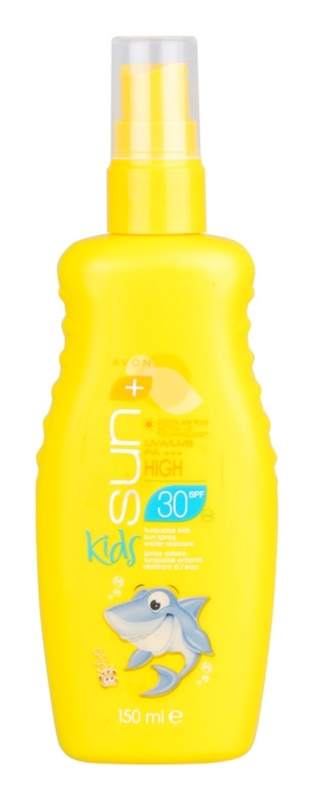 Avon Sun Kids spray solar turquesa resistente à água SPF 30