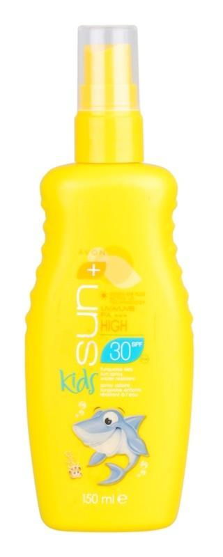 Avon Sun Kids spray turcoaz pentru protectie solara rezistent la apa SPF 30