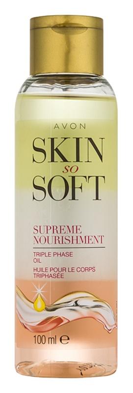 Avon Skin So Soft huile corporelle nourrissante tri-phasée