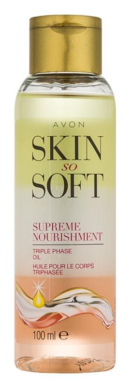 Avon Skin So Soft ulei de corp nutritiv în trei faze