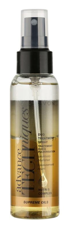 Avon Advance Techniques Supreme Oils Intensief Voedende Spray met Luxe Olie  voor Alle Haartypen