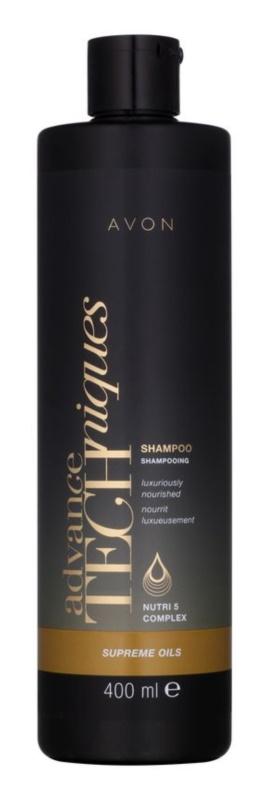 Avon Advance Techniques Supreme Oils intensywnie odżywiający szampon z luksusowymi olejkami do wszystkich rodzajów włosów