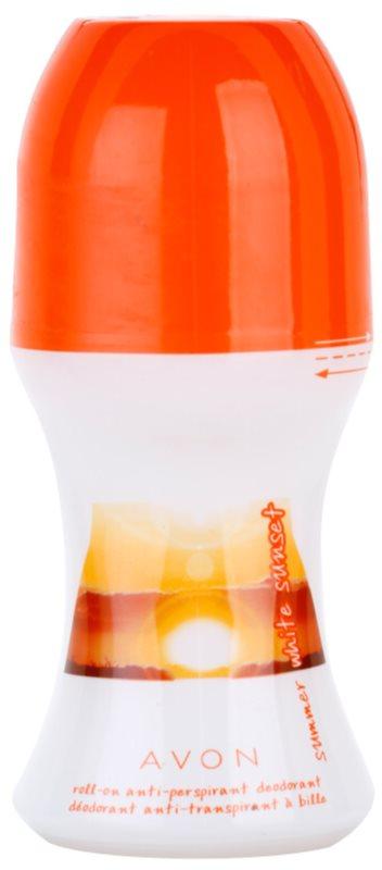 Avon Summer White Sunset deodorant roll-on pro ženy 50 ml