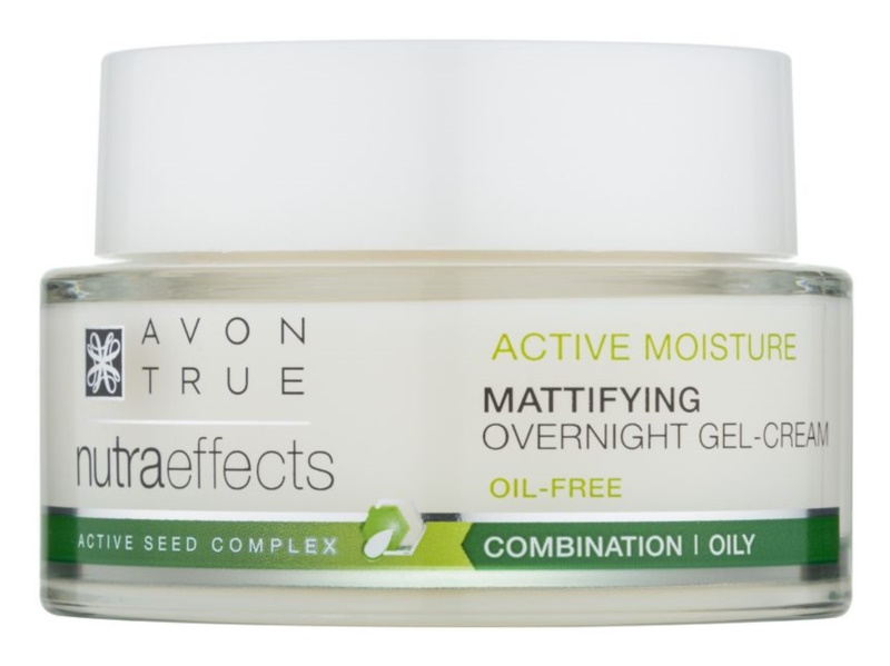 Avon True NutraEffects Matte Night Cream Non-Greasy Gel Formulation