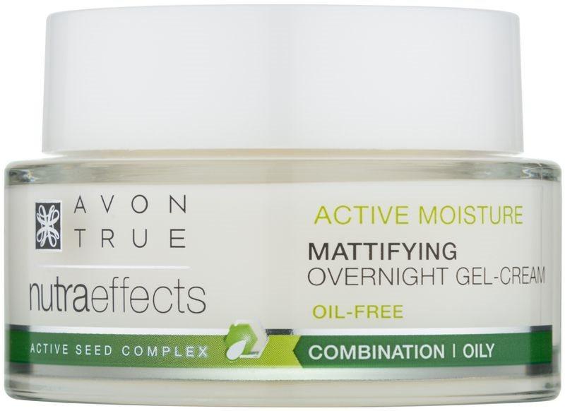 Avon True NutraEffects mattító éjszakai géles krém nem zsíros formában