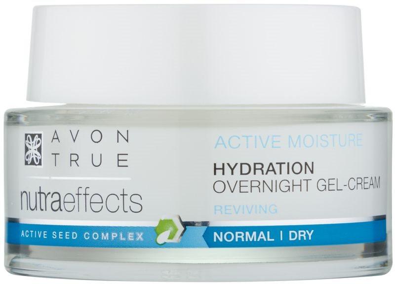 Avon True NutraEffects noční gelový krém pro hydrataci a vyhlazení pleti