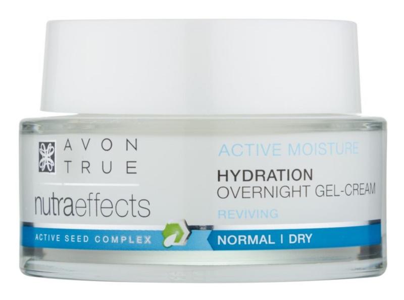 Avon True NutraEffects нічний крем-гель для зволоження та розгладження шкіри