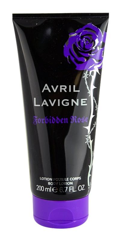 Avril Lavigne Forbidden Rose telové mlieko pre ženy 200 ml