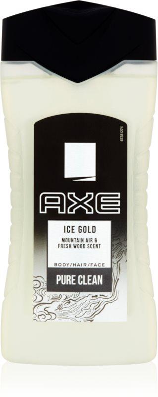 Axe Ice Gold gel za prhanje za moške 250 ml