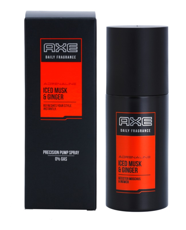 Axe Adrenaline Iced Musk and Ginger spray de corpo para homens 100 ml