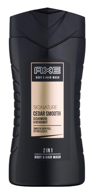 Axe Signature Cedar Smooth gel za prhanje za moške 250 ml