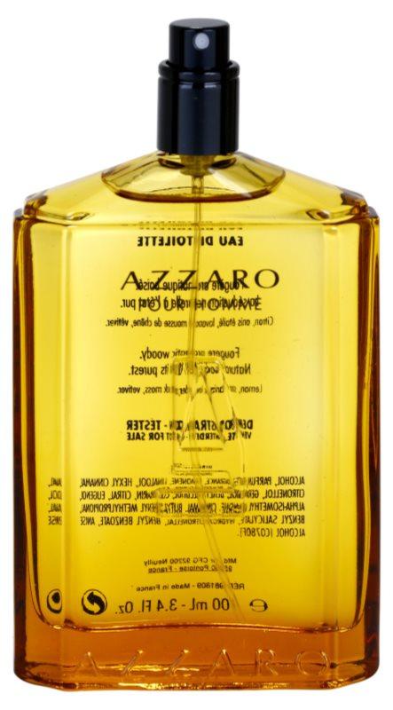 Azzaro Pour Homme toaletní voda tester pro muže 100 ml plnitelná