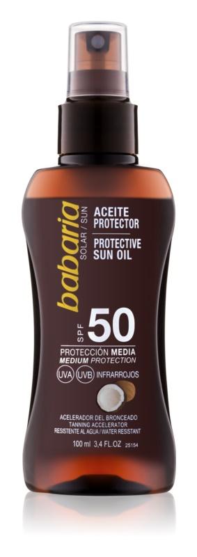 Babaria Sun Protective Sun Oil In Spray SPF50