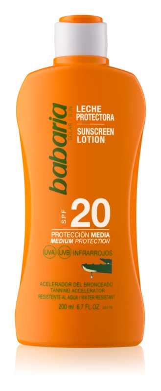 Babaria Sun Protective lait solaire waterproof SPF 20