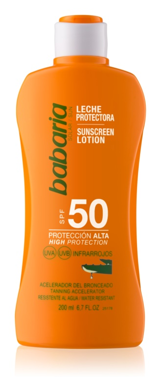 Babaria Sun Protective lait solaire waterproof SPF 50