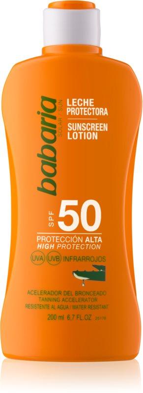 Babaria Sun Protective lapte de corp pentru soare rezistent la apa SPF 50