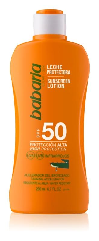 Babaria Sun Protective vodeodolné mlieko na opaľovanie SPF 50
