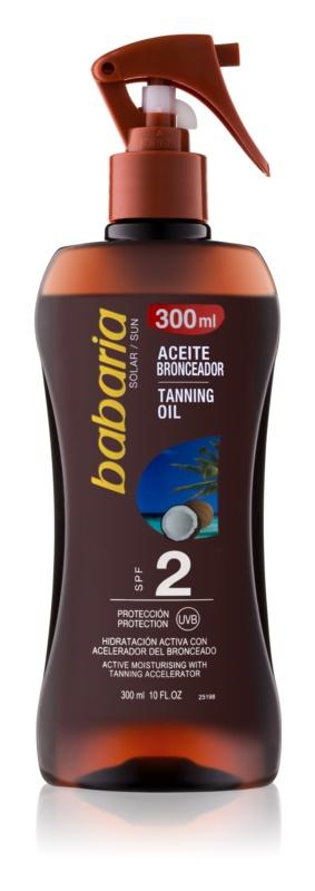 Babaria Sun Bronceadora ulei hidratant pentru intensificarea bronzului