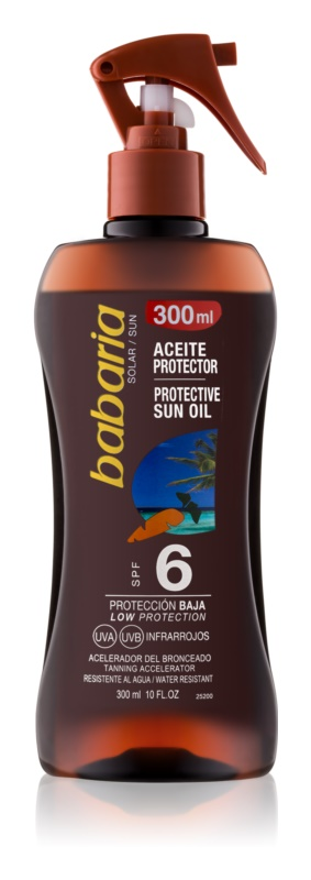 Babaria Sun Protective αντηλιακό λάδι σε σπρέι SPF 6