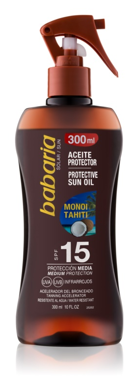 Babaria Sun Protective αντηλιακό λάδι σε σπρέι SPF 15