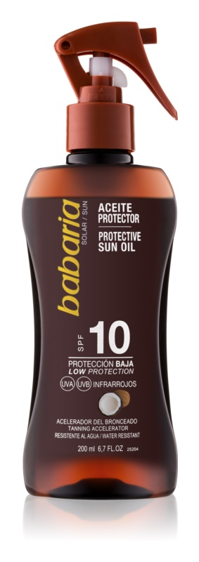 Babaria Sun Protective αντηλιακό σπρέι SPF 10
