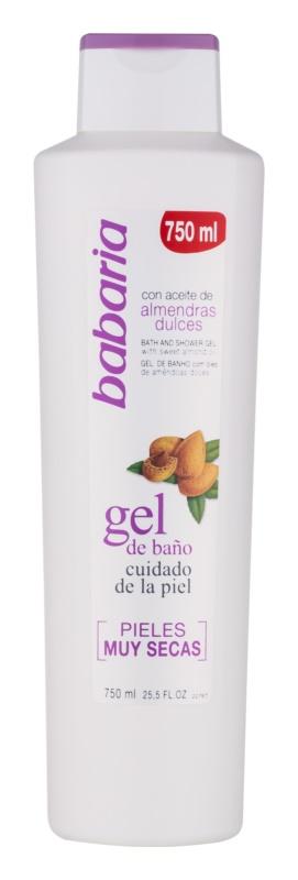 Babaria Almendras gel de douche pour peaux sèches