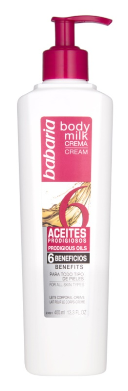Babaria 6 Esential Oils leite corporal
