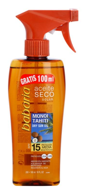 Babaria Sun Aceite Solar ulei de bronzat pentru piele uscata SPF 15