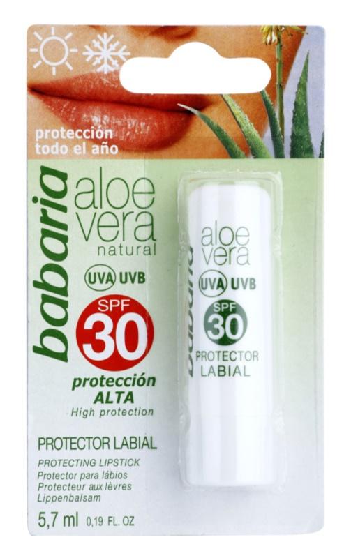 Babaria Aloe Vera balsamo labbra SPF 30