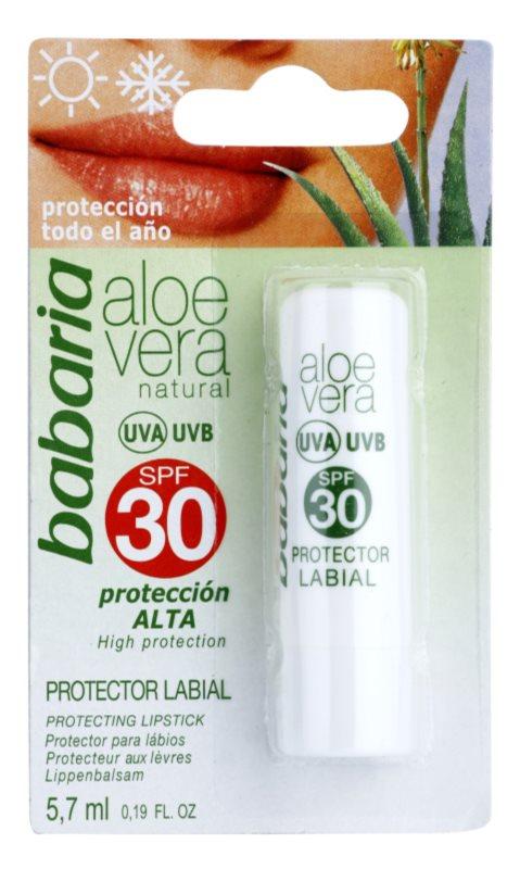 Babaria Aloe Vera balzam na pery SPF 30