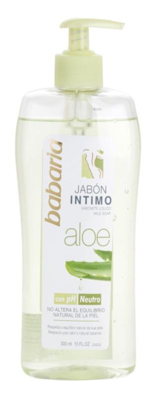 Babaria Aloe Vera gel de ducha para la higiene íntima femenina con aloe vera
