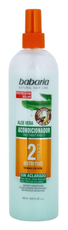Babaria Argan après-shampoing bi-phasé à l'aloe vera