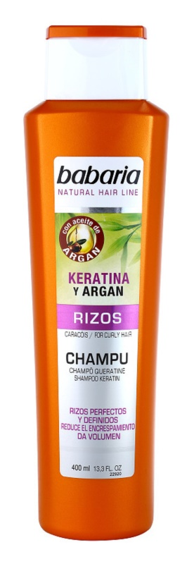 Babaria Argan šampon na vlnité vlasy s keratinem a arganem