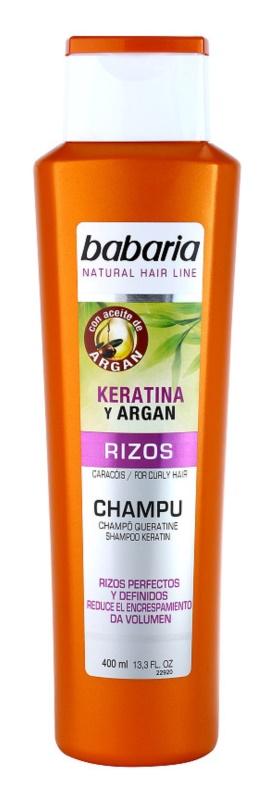 Babaria Argan Shampoo für welliges Haar mit Keratin und Arganöl