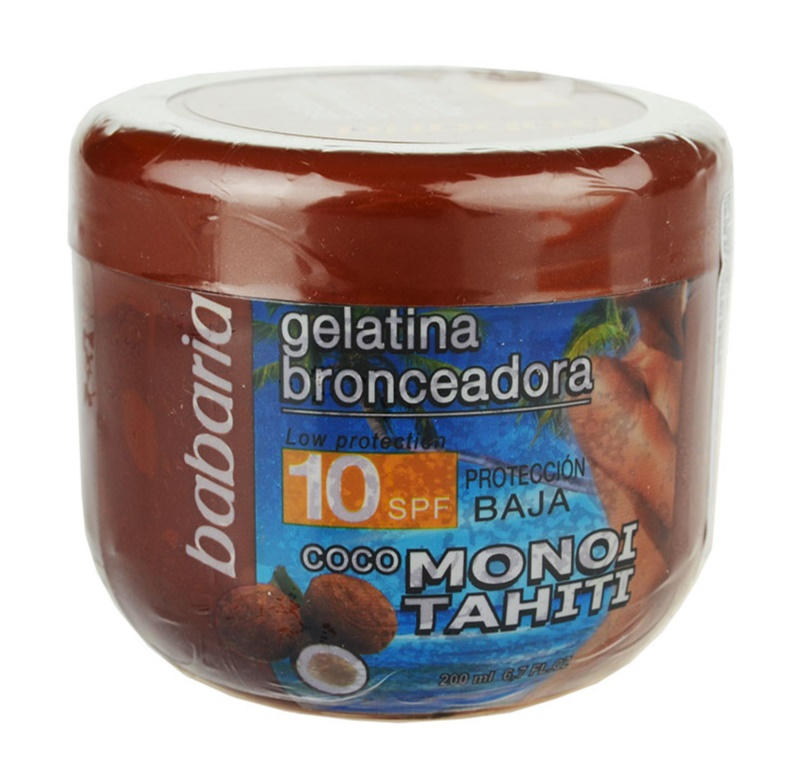 Babaria Sun Bronceadora Toning Gel With Coconut SPF 10