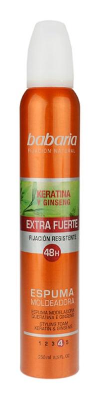 Babaria Ginseng pena za lase ekstra močno utrjevanje