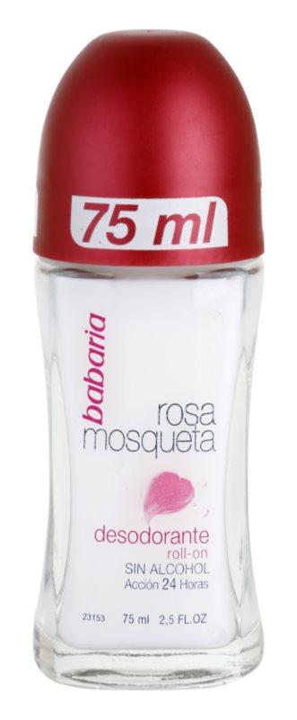 Babaria Rosa Mosqueta deodorant roll-on s výtažkem ze šípkové růže