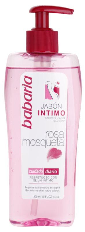 Babaria Rosa Mosqueta gel de banho de higiene íntima para mulheres com extrato de rosas silvestres