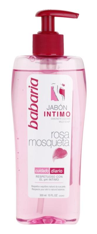 Babaria Rosa Mosqueta gel douche de toilette intime pour femme à l'extrait de rosier des chiens