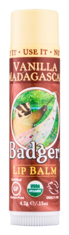 Badger Classic Vanilla Madagascar balzám na rty