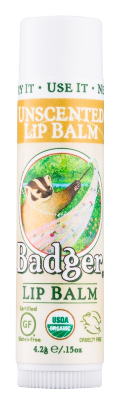 Badger Classic Unscented balsamo labbra