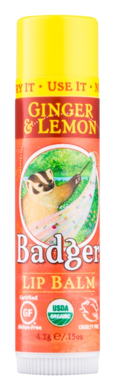 Badger Classic Ginger & Lemon balsamo labbra