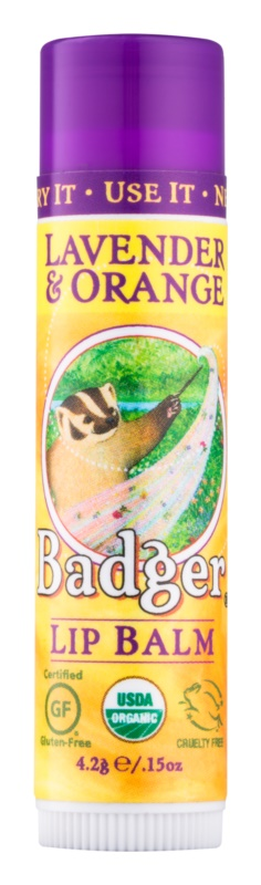 Badger Classic Lavender & Orange бальзам для губ