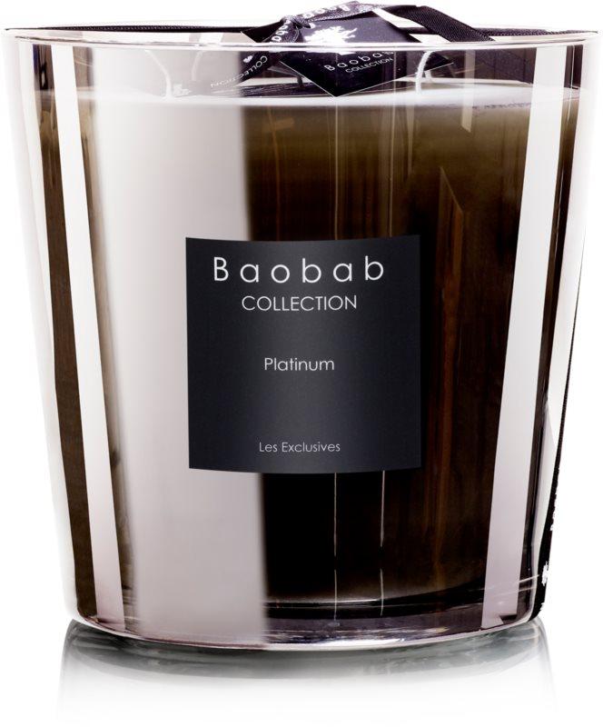 Baobab Les Exclusives Platinum bougie parfumée 6,5 cm